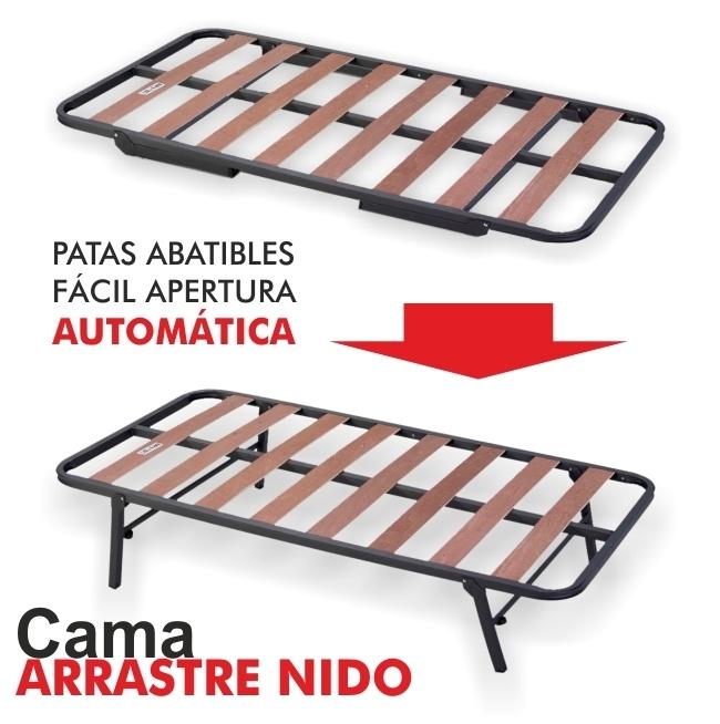 Cama arrastre nido for Cama 80x180
